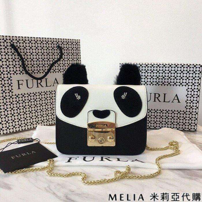 Melia 米莉亞代購 商城特價 數量有限 每日更新 19ss FURLA 芙拉 單肩斜背包 小號 兔毛耳朵 熊貓