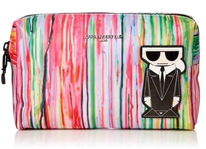 預購 美國帶回 正版授權 Karl Lagerfeld 卡爾老佛爺 彩色 化妝包 手拿包 收納包