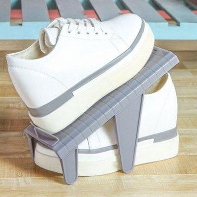 ♣生活職人♣【Q192】可調節簡易鞋架 鞋子收納架 可拆卸 鞋托 家用 雙層 收納 鞋架 立體 DIY 空間 衛生 疊放