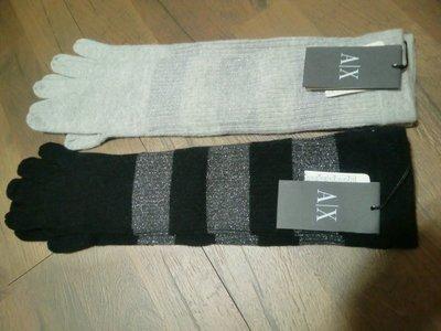 精品【A/X Armani Exchange】保暖喀什米爾毛長手套