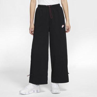NIKE NSW ICON CLASH PANT 長褲 黑色 寬褲 刺繡 小勾 休閒 女 CU5980 010 YTS