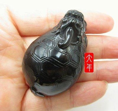 (大特價)超凝脂的白底墨玉龍龜~ 只給第一個下標者【大年和闐玉公司南京店】