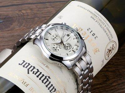 窩美奇洛時正品簡約三眼小針全自動機械男錶