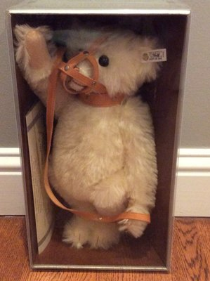 STEIFF 德國金耳扣泰迪熊─1989年Muzzle Bear 口罩熊
