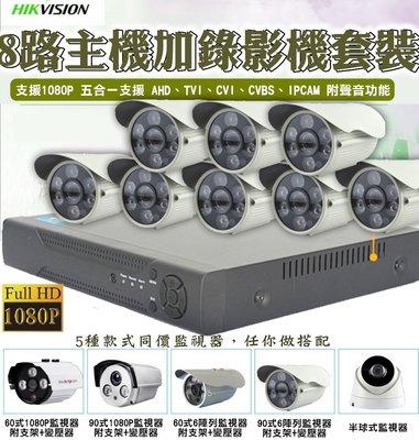 雲蓁小屋【8路1080N主機+監視器套裝】主機 監視器 錄影機 IP數位 攝影機 錄像機 攝像頭