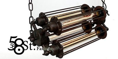 【阿拉神燈】米蘭展設計款式「Contrary 正負極吊燈_4燈款」時尚設計師的燈。複刻版。GH-374