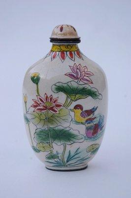 阿國的收藏˙˙乾隆年製款˙畫琺瑯˙˙鼻煙壺