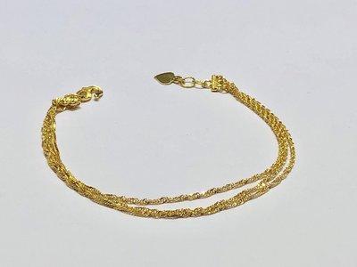 【JHT 金宏總珠寶/GIA鑽石】0.92錢/17cm 黃金手鍊 (請詳閱商品描述)