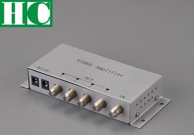 保誠科技~限量特價 1進4出視頻分配器 104V 視訊分配器 含稅價 1對4放大器 訊號放大器 保全監視門禁監控防盜