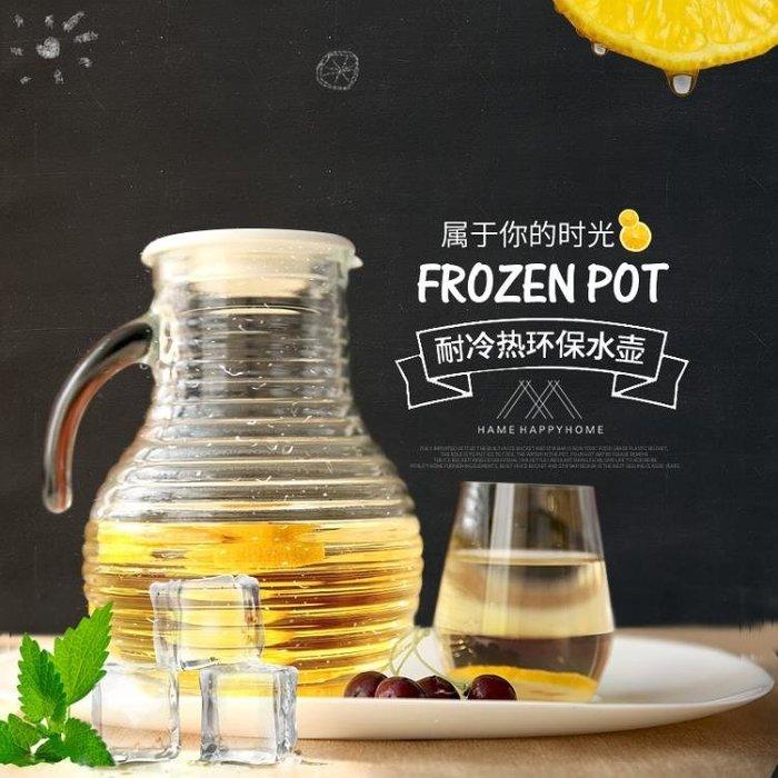 原裝進口無鉛玻璃水壺冷水壺檸檬果汁大容量涼水壺(可免費開立發票)