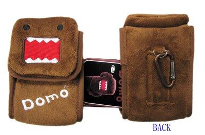 【卡漫迷】 多摩君 絨毛 相機包 ㊣版 DOMO KUN 手機包  收納包 相機袋 保護套 扣環 多功能包 萬用包