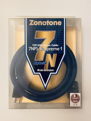 Zonotone 7NPS Shuperme 1 20A 電源線 日本製