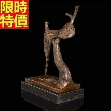 銅雕擺件 抽象時間-書房辦公室藝術收藏雕塑工藝品66v21[獨家進口][巴黎精品]