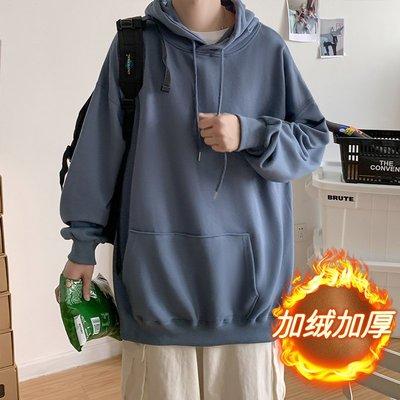 Kudi正韓男裝新款中性小碼男裝矮小個子XS碼LES帥T潮男女青年寬松加絨加厚衛衣外套