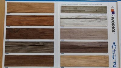 德國原料製塑膠地板-A計畫超真實!枕木紋塑膠地磚塑膠地板~15cmx90cmx2.0m/m,600元/坪