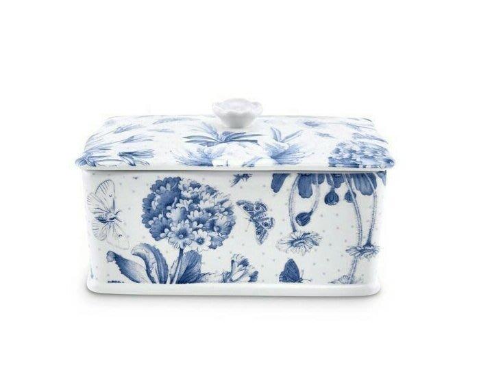 蘇菲亞精品傢飾~蘇菲亞精品傢飾~英國百年品牌Botanic Blue奶油罐·餅乾罐禮盒