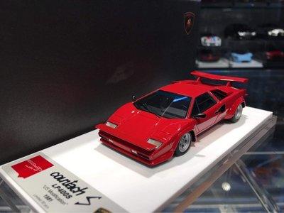吉華科技@ 1/43 MakeUp EM506A Countach LP400S U.S.Modification 紅色