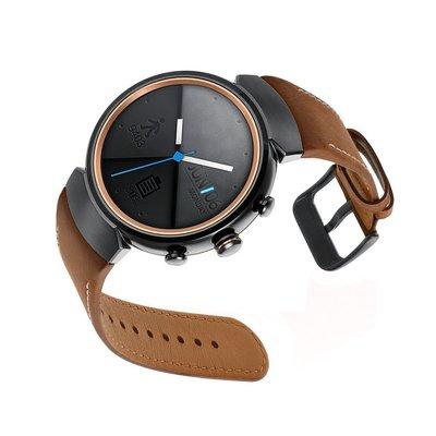 丁丁 Asus 華碩 Zenwatch 3 智能運動手錶 真皮錶帶 瘋馬紋 14mm 通用 腕帶 智能手錶替換錶帶