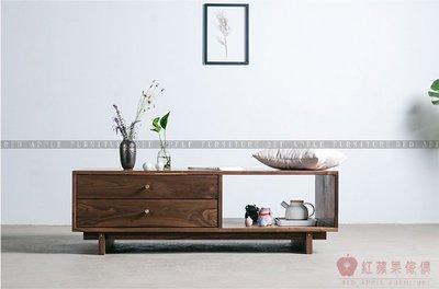 [紅蘋果傢俱]MJ014 茶几 原木 實木 置物架 地櫃 長方形茶几