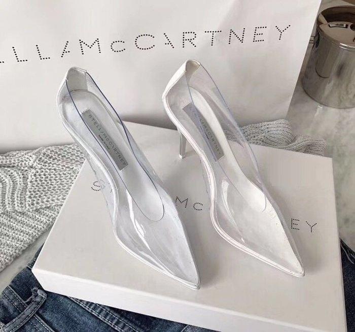 GoodStyle 眾星最愛 Stella Mccartney 透明拼色環保高跟鞋 優質選擇~特