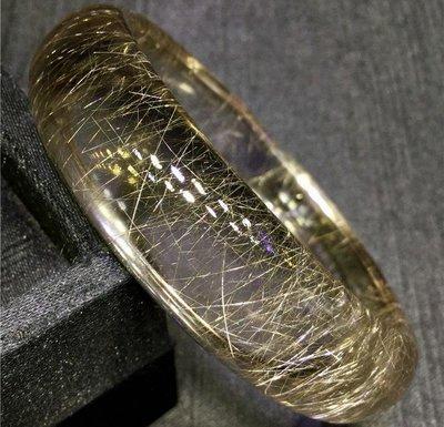 純天然水晶金發晶順發晶鈦晶白發晶銀發晶順發晶手鐲內徑:58mm金太陽水晶57950