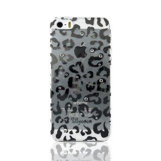【宇浩電通】Lilycoco iPhone 5 5S SE 璀璨 水晶 耀眼 豹紋 透明 硬殼 保護殼 保護套
