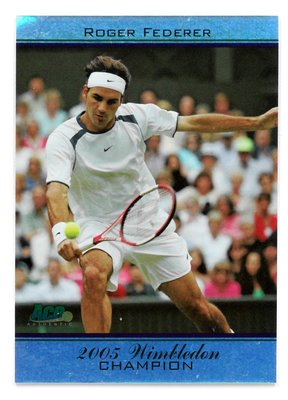 Roger Federer 費德勒 2005年溫布頓冠軍紀念球員卡