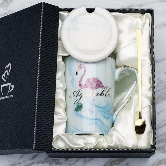 【優惠特價】馬克杯 簡約馬克杯陶瓷杯子帶蓋勺北歐韓版女學生牛奶咖啡杯家用水杯 『本色家飾』