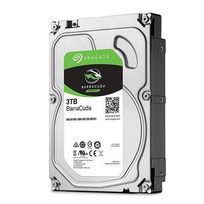 【鴻霖-硬碟】Seagate新梭魚BarraCuda 3TB 3.5吋 5400轉桌上型硬碟 (ST3000DM007)