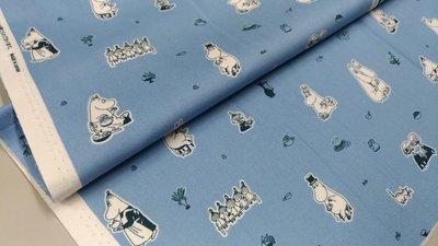 豬豬日本拼布 限量版權卡通布 mooning. valley 嚕嚕米 棉布料材質 51公分賣350元