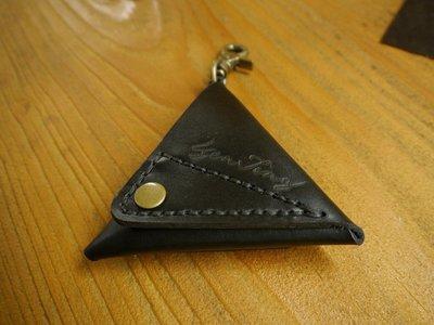(KH手工皮革)天然牛皮訂製零錢包(附勾環)可勾身上.時尚造型雙面可開配色可自選可燙字