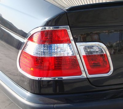 ~圓夢工廠~ BMW 3 E46 2001~2005 318 318i 320 320i  鍍鉻車燈框 後燈框 尾燈框