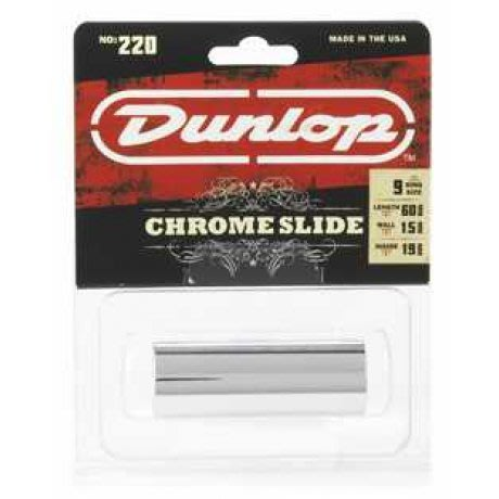 【六絃樂器】全新美國 Dunlop 220 SI 金屬鍍鉻滑管 / Slide 滑音管