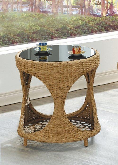 【DH】商品編號AB257-1商品名稱休閒圓桌(圖一)附強化玻璃。細膩編織造型。主要地區免運費