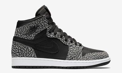 Nike Air Jordan 1 retro HIGH 839115-013 喬丹AJ-1 白黑灰爆裂紋 鞋舌紅跳跳人 台北市