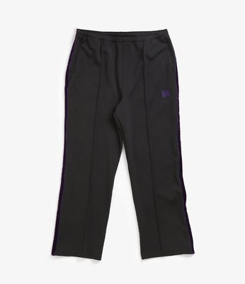 NEEDLES SIDE LINE CENTER SEAM PANT - POLY SMOOTH 黑色 單線 運動褲