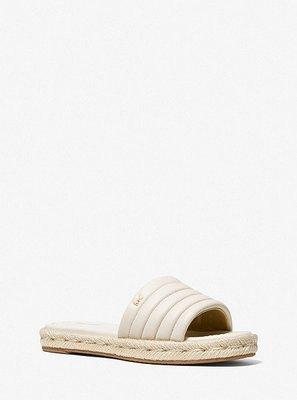 MICHAEL KORS Royce Quilted Leather Slide Sandal 5/25止