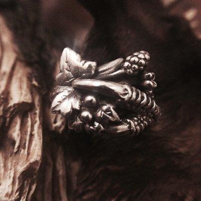 梵玉善緣 「 Branch Revival」翠鳥遺跡芽枝精靈の925純銀戒指銀飾
