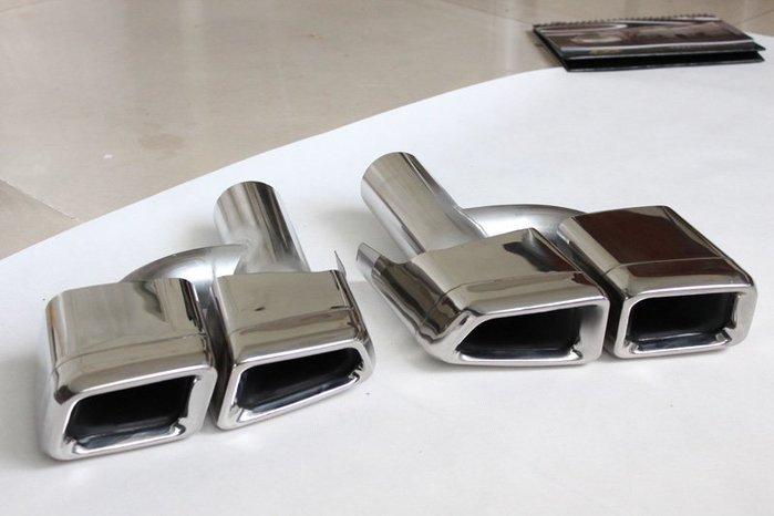 D19011705 BENZ 賓士 W207 W204 W212 AMG E63款 E250 E350 方型尾飾管