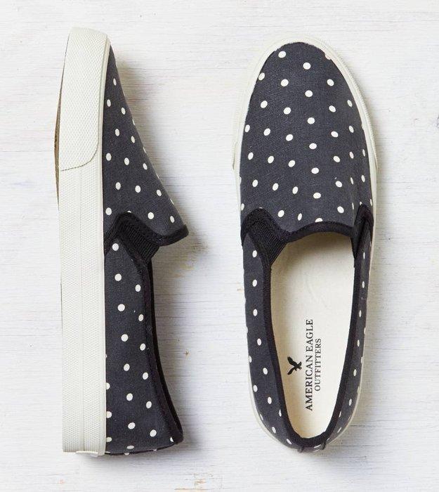【天普小棧】AMERICAN EAGLE AE美國老鷹 AEO Slip-On Sneaker帆布鞋懶人鞋6號現貨抵台