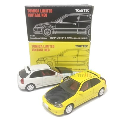 『 單位日貨 』香港正版萬信版 限定TOMYTEC Civic type R 99年 1/64 黃/白 2款 單售 小車