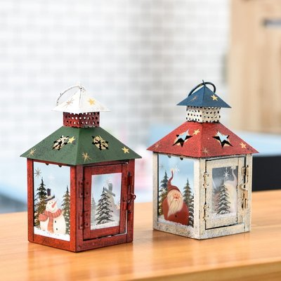【尋寶圖】現貨!聖誕裝飾聖誕樹聖誕禮物聖誕擺飾圣誕節裝飾品鐵藝創意發光手提燈雪房子燈蠟燭燈桌面擺件場景布置131644