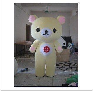 【優上精品】卡通服裝廣告道具服裝行走卡通人偶米黃色懶懶熊拉拉熊卡通服裝表演人(Z-P3278)