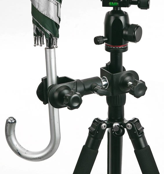 呈現攝影-C型夾附母座+C型夾附公頭 雨傘夾組合 DIY腳架雨傘夾 萬用夾 相機/燈腳架※