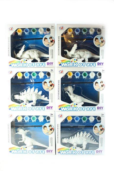佳佳玩具 ----- 彩繪恐龍 DIY玩具 安全環保 恐龍模型 安全玩具 一套【CF119084】