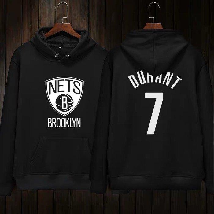 💥KD杜蘭特Kevin Durant長袖連帽T恤上衛衣💥NBA籃網隊Adidas愛迪達運動籃球衣服大學純棉T男948