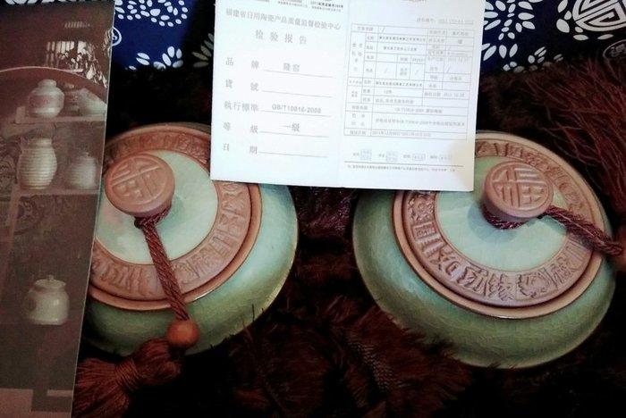 [ 茶品推薦 ] 陶瓷茶倉 約可裝半斤茶葉 $1200 (2入禮盒裝)