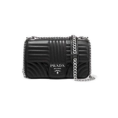 【KoKo奢品】 PRADA Quilted leather shoulder 黑色 肩背 斜背包