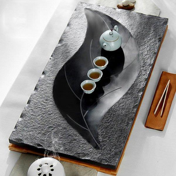 5Cgo【茗道】含稅會員有優惠 521146459346 烏金石茶盤茶海大號整塊黑石石頭茶台茶具創意石頭79*39cm