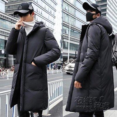 新款韓版加厚連帽中長款棉衣男裝反季羽絨棉服棉襖冬季外套男 焦糖布丁